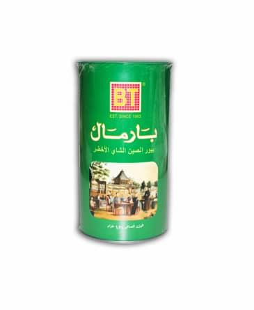 تصویر چای بارمال سبز قوطی ساده