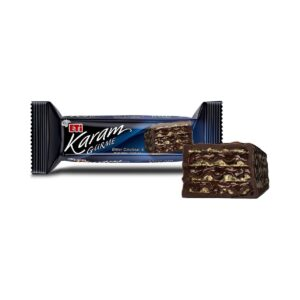 تصویر ویفر شکلاتی با کرم شکلات تلخ 50 گرمی کارام اتی