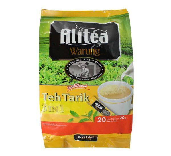 تصویر شیر چای علی تی 3 در 1 بیست عددی 400 گرم