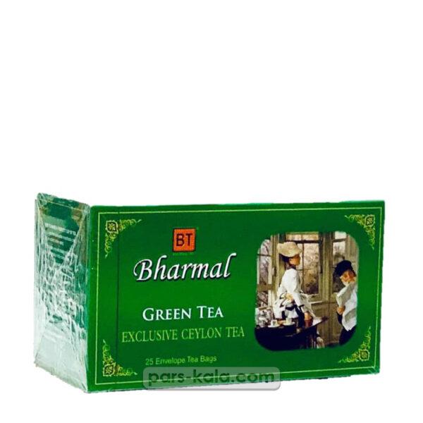 چای بارمال سبز تی بگ 25 عددی