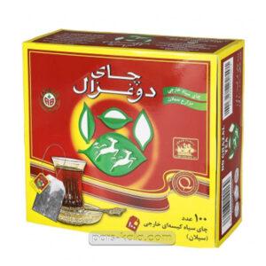 چای دوغزال تی بگ 100 عددی عطری