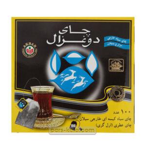 چای دوغزال تی بگ 100 عددی ساده