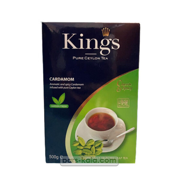چای کینگس سیلانی با طعم هل 500 گرم