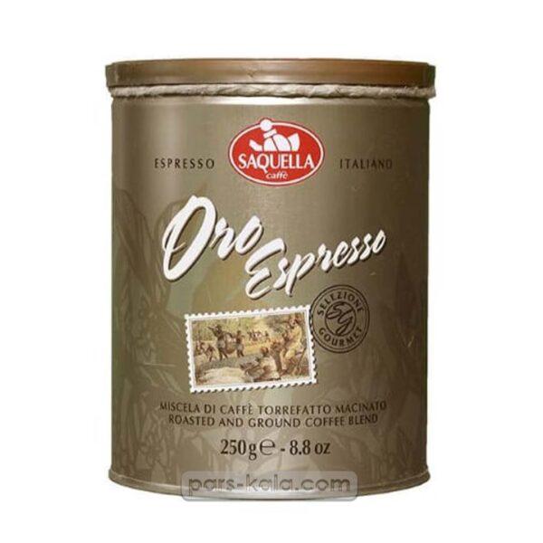 قوطی قهوه ساکوئلا مدل Espresso Oro