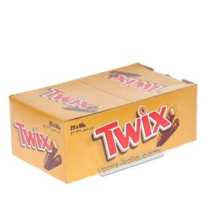 شکلات بیسکوییت عسلی توییکس 25 عددی