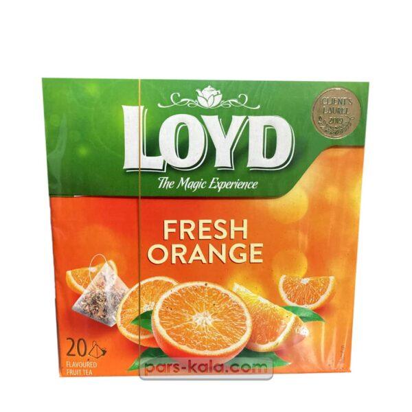 تصویر دمنوش گیاهی پرتقال تازه لوید